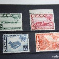 Sellos: ISLANDIA 75 ANIVERSARIO DE LA UNION MUNDIAL DE CORREOS,NUEVOS. Lote 135523310