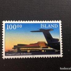Sellos: ISLANDIA Nº YVERT 617*** AÑO 1987. NUEVO AEROPUERTO DE KEFLAVIK. Lote 135623174