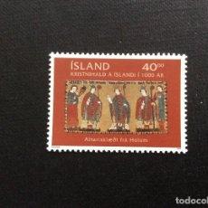 Sellos: ISLANDIA Nº YVERT 880*** AÑO 2000. 1000 ANIVERSARIO DEL CRISTIANISMO EN ISLANDIA. Lote 137258430