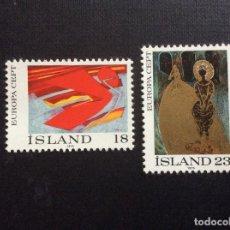 Sellos: ISLANDIA Nº YVERT 455/6*** AÑO 1975. EUROPA. PINTURA. Lote 137946558