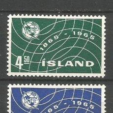 Sellos: ISLANDIA YVERT NUM. 345/346 ** SERIE COMPLETA SIN FIJASELLOS. Lote 143883044