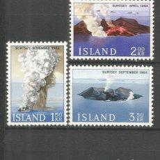Sellos: ISLANDIA YVERT NUM. 347/349 ** SERIE COMPLETA SIN FIJASELLOS. Lote 143883054
