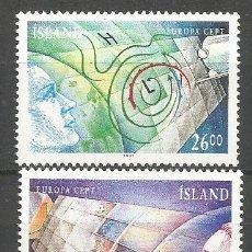 Sellos: ISLANDIA YVERT NUM. 695/696 ** SERIE COMPLETA SIN FIJASELLOS. Lote 143191502