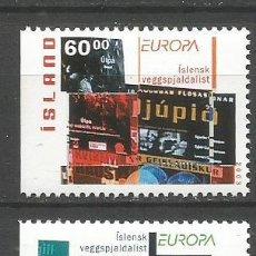 Sellos: ISLANDIA YVERT NUM. 966/967 ** SERIE COMPLETA SIN FIJASELLOS EUROPA. Lote 143192054