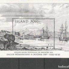 Sellos: ISLANDIA HOJA BLOQUE YVERT NUM. 8 ** NUEVA SIN FIJASELLOS. Lote 143209918