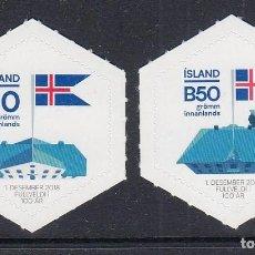 Sellos: ISLANDIA 2018 CENENARIO DE LA INDEPENDENCIA DE ISLANDIA. Lote 144388214