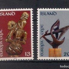 Sellos: ISLANDIA 1974 ** EUROPA CEPT - 2/23. Lote 144728678
