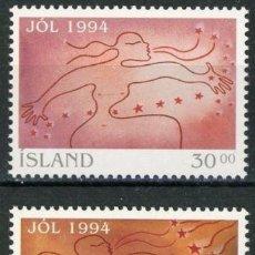 Sellos: ISLANDIA 1994 IVERT 768/69 *** NAVIDAD - SILUETAS. Lote 145614562