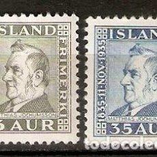 Sellos: ISLANDIA. 1935. YT 160,163. Lote 148437018