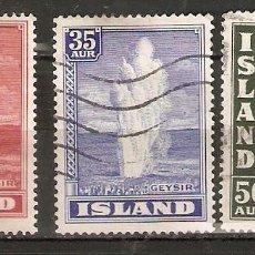 Sellos: ISLANDIA. 1938. YT 177,178,180. Lote 148437198