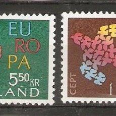 Sellos: ISLANDIA. 1961. YT 311,312. Lote 148440166
