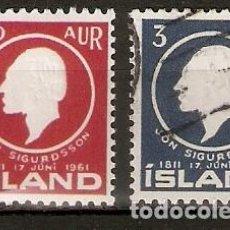 Sellos: ISLANDIA. 1961. YT 306,308. Lote 148440274