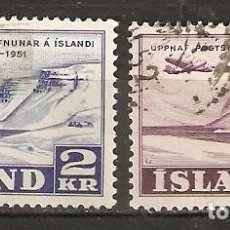 Sellos: ISLANDIA. 1951. YT 236,237. Lote 148442494