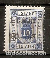 ISLANDIA. 1902. SERVICIO. YT 13. SUBCARGA I GILDI (Sellos - Extranjero - Europa - Islandia)