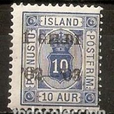 Sellos: ISLANDIA. 1902. SERVICIO. YT 13. SUBCARGA I GILDI. Lote 148442834