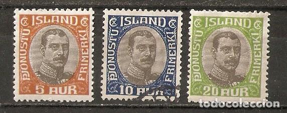 ISLANDIA. 1920-30. SERVICIO YT 35,36,38 (Sellos - Extranjero - Europa - Islandia)