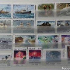 Sellos: SELLOS DE ISLANDIA DE 1991 NUEVOS. Lote 149759606