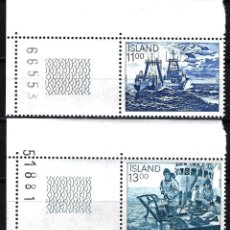 Sellos: 1983 ISLANDIA YVERT YT 553/554 MICHEL MI 600/601 MNH** NUEVO SIN CHARNELA - BARCOS PESCA. Lote 149941638