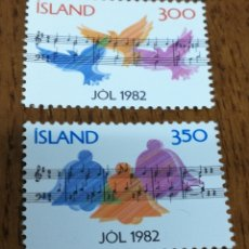 Sellos: ISLANDIA : 543/44 MNH, NAVIDAD 1982. Lote 154915893