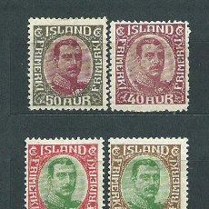 Sellos: ISLANDIA - CORREO 1920 YVERT 91/4 * MH. Lote 159540316