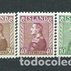 Sellos: ISLANDIA - CORREO 1937 YVERT 164/6 ** MNH. Lote 159540420