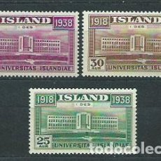 Sellos: ISLANDIA - CORREO 1938 YVERT 168/70 * MH. Lote 159540580