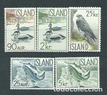 ISLANDIA - CORREO 1959 YVERT 294/8 * MH FAUNA (Sellos - Extranjero - Europa - Islandia)