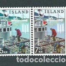 Sellos: ISLANDIA - CORREO 1963 YVERT 325/6 ** MNH. Lote 159540820
