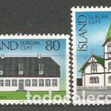 Sellos: ISLANDIA - CORREO 1978 YVERT 483/4 ** MNH EUROPA. Lote 159541532