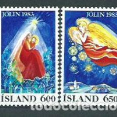 Sellos: ISLANDIA - CORREO 1983 YVERT 561/2 ** MNH NAVIDAD. Lote 159541920