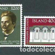 Sellos: ISLANDIA - CORREO 1984 YVERT 575/6 ** MNH. Lote 159541952