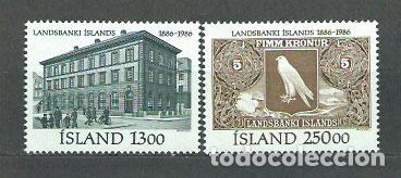 ISLANDIA - CORREO 1986 YVERT 605/6 ** MNH (Sellos - Extranjero - Europa - Islandia)