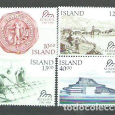 Sellos: ISLANDIA - CORREO 1986 YVERT 607/10 ** MNH. Lote 159542012
