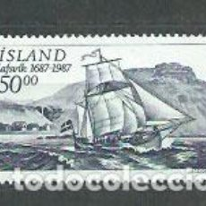 Sellos: ISLANDIA - CORREO 1987 YVERT 616 ** MNH BARCO. Lote 159542024