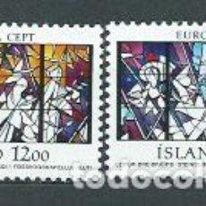 Sellos: ISLANDIA - CORREO 1987 YVERT 618/9 ** MNH EUROPA. Lote 159542032