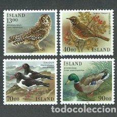 Sellos: ISLANDIA - CORREO 1987 YVERT 621/4 ** MNH AVES. Lote 159542176