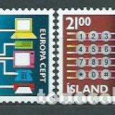 Sellos: ISLANDIA - CORREO 1988 YVERT 635/6 ** MNH. Lote 159542212