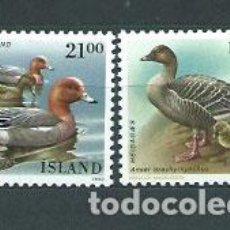 Sellos: ISLANDIA - CORREO 1990 YVERT 675/6 ** MNH AVES. Lote 159542292