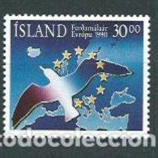 Sellos: ISLANDIA - CORREO 1990 YVERT 683 ** MNH AÑO EUROPEO DEL TURISMO. Lote 159542312