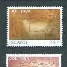 Sellos: ISLANDIA - CORREO 1994 YVERT 768/9 ** MNH NAVIDAD. Lote 159542692