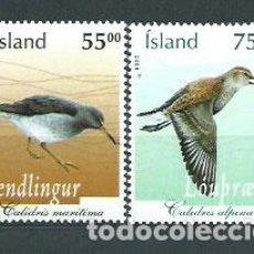 Sellos: ISLANDIA - CORREO 2004 YVERT 1006/7 ** MNH AVES. Lote 159543790