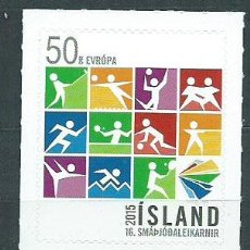 Sellos: ISLANDIA CORREO 2015 YVERT 1391 ** MNH DEPORTES. Lote 159544610