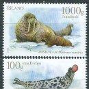 Sellos: ISLANDIA CORREO 2012 YVERT 1294/95 ** MNH FOCAS. FAUNA. Lote 159544873