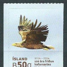 Sellos: ISLANDIA CORREO 2014 YVERT 1343 ** MNH FAUNA. AVES. Lote 159544893