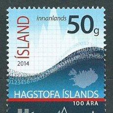 Sellos: ISLANDIA CORREO 2014 YVERT 1342 ** MNH. Lote 159544897