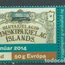 Sellos: ISLANDIA CORREO 2014 YVERT 1341 ** MNH BARCOS. Lote 159544901