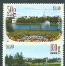 Sellos: ISLANDIA CORREO 2014 YVERT 1358/59 ** MNH JARDINES. Lote 159544917