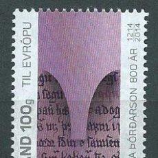Sellos: ISLANDIA CORREO 2014 YVERT 1370 ** MNH. Lote 159544925