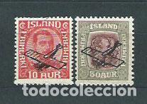 ISLANDIA - AEREO YVERT 1/2 * MH AVIÓN (Sellos - Extranjero - Europa - Islandia)