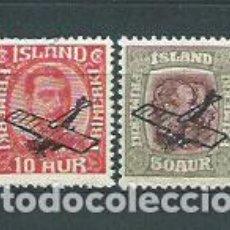 Sellos: ISLANDIA - AEREO YVERT 1/2 * MH AVIÓN. Lote 159544945